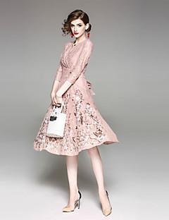 お買い得  レディースドレス-女性用 キュート ストリートファッション シース ドレス ソリッド ミディ ディープVネック