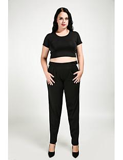 billige Bukser-Dame Gatemote Store størrelser Harem Chinos Bukser Fargeblokk Lapper