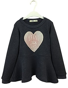 tanie Odzież dla dziewczynek-Bluza z kapturem / bluza Bawełna Dla dziewczynek Jendolity kolor Wiosna Jesień Długi rękaw Spódnica/Spodnie Granatowy