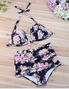 billige Bikinier og damemote 2017-Dame Grime Bikini - Trykt mønster Blomstret / Sexy