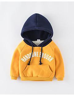 billige Pigetoppe-Pige T-shirt Ensfarvet, Bomuld Forår Kortærmet Vintage Orange Navyblå Kakifarvet Lysegrå