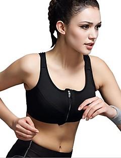 billige Løbetøj-Dame SportsBH'er Svedreducerende, Reducerer gnavesår, Åndbarhed SportsBH'er for Yoga / Løb / Indendørs Nylon Grå / Mørkegrå / Ru Sort S /