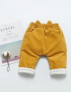 billige Bukser og leggings til piger-Pige Bukser Ensfarvet, Bomuld Bambus Fiber Spandex Forår Aktiv Grøn Rød Gul