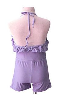 billige Badetøj til piger-Pige Ensfarvet Badetøj, Akryl Lilla