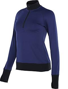 billige Løbetøj-Dame Løbe-T-shirt T-Shirt - Sport Løb Langærmet Hurtigtørrende Uelastisk Sort, Mørkeblå, Grå Ensfarvet