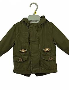 hesapli Bebek Dış Giyimi-Bebek Genç Erkek Günlük Pamuklu Solid Uzun Kol Takım Elbise ve Blazer Sıradan Ordu Yeşili