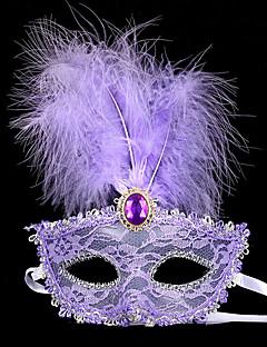 billige Masker-Karneval Masquerade Mask Hvit Svart Lilla Gul Rød Blonde Cosplay-tilbehør Maskerade