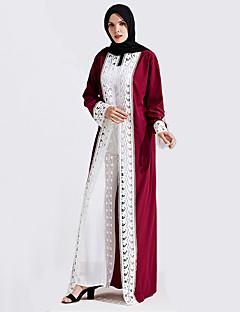 tanie Etniczne & Cultural Kostiumy-Moda Sukienka Kaftan Abaya Arabian Dress Damskie Festiwal/Święto Kostiumy na Halloween Czerwony Niebieski Koronkowe