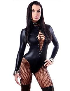 billige Sexy kostymer-Zentai Drakter Cosplay Kostumer Zentai Cosplay-kostymer Svart Ensfarget Trikot / Heldraktskostymer Spandex Dame Jul Halloween Karneval
