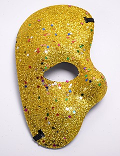 billige Halloweenkostymer-Karneval Masquerade Mask Lilla Rød Blå Gylden Fuksia Plastikker Cosplay-tilbehør Maskerade