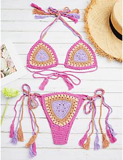 billige Bikinier og damemote 2017-Dame Bohem Grime Bikini Trykt mønster