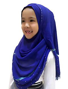 tanie Etniczne & Cultural Kostiumy-Moda Winieta Hidżab Abaya Green Niebieski Różowy Fuschia Pink Szyfon Akcesoria do cosplay