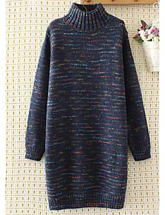 tanie Swetry damskie-Damskie Golf Długi Pulower Jendolity kolor Długi rękaw