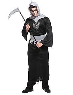 billige Halloweenkostymer-Grim Reaper Cosplay Kostumer Kvinnelig Halloween Festival / høytid Halloween-kostymer Svart Halloween