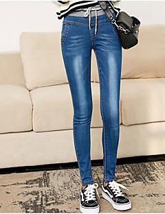 tanie Getry-Damskie Jeans Legging - Jendolity kolor Solid Color Naturalny
