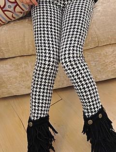 billige Bukser og leggings til piger-Pige Bukser Ruder, Bomuld Vinter Sødt Sort