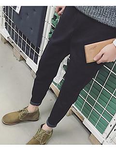billige Herrebukser og -shorts-Herre Fritid Mikroelastisk Harem Bukser, Mellomhøyt liv Bomull Ensfarget Høst