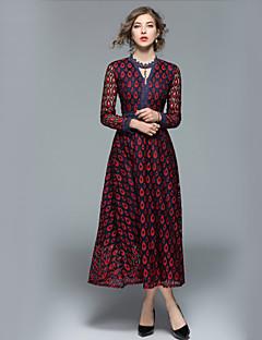お買い得  マキシドレス-女性用 ワーク ストリートファッション Aライン ドレス カラーブロック マキシ Vネック