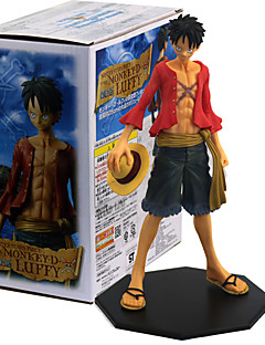 billige Anime cosplay-Anime Action Figurer Inspirert av One Piece Monkey D. Luffy PVC 26 CM Modell Leker Dukke