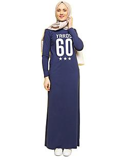 tanie Etniczne & Cultural Kostiumy-Moda Sukienka Kaftan Abaya Arabian Dress Damskie Festiwal/Święto Kostiumy na Halloween Gray Rose Niebieski Litera i numer