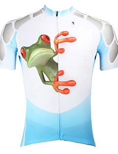 billige Sykkelklær-ILPALADINO Herre Kortermet Sykkeljersey - Blå Dyr Sykkel Jersey, Fort Tørring, Ultraviolet Motstandsdyktig, Pustende
