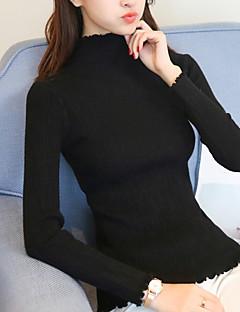 tanie Swetry damskie-Damskie Kaszmir Długie Sweter rozpinany Solidne kolory Długi rękaw / Zima