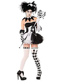 billige Halloweenkostymer-Burlesk/Klovn Cosplay Kostumer Dame Halloween Festival / høytid Halloween-kostymer Svart Pledd / Tern