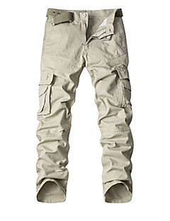 billige Herrebukser og -shorts-Herre Bomull Chinos Bukser Lapper