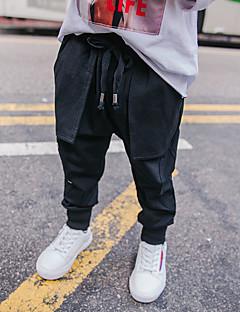 tanie Odzież dla chłopców-Spodnie Wełna Bawełna Len Włókno bambusowe Akryl Dla chłopców Codzienny Jendolity kolor Wiosna Prosty Vintage Black