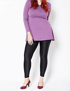 tanie Getry-Damskie Rozmiar plus Jednolity kolor Legging Jendolity kolor