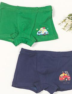 billige Undertøj og sokker til drenge-Drenge Undertøj By, Bomuld Alle årstider Simple Mikroelastisk Sort Rød