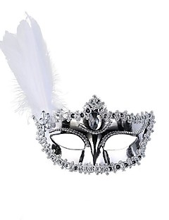 cheap Halloween Masks-Classic Masquerade Mask Black White Golden Silver Plastics Cosplay Accessories Masquerade