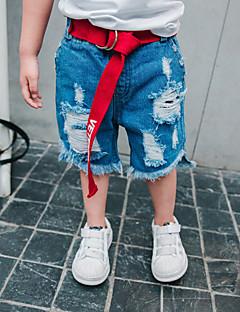 זול בגדים לילדים-שורטים צמר כותנה סיבי במבוק אביב יומי אחיד בנים פשוט וינטאג' פול