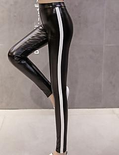 baratos Leggings para Mulheres-Mulheres Com Rasgos Legging - Listrado, Cordões