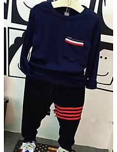 tanie Odzież dla chłopców-Komplet odzieży Inne Dla chłopców Codzienny Prążki Jesień Długi rękaw Black