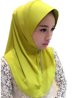 tanie Etniczne & Cultural Kostiumy-Moda Winieta Hidżab Abaya Beige Purple Yellow Green Różowy Jedwab Akcesoria do cosplay