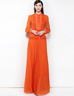 ieftine Designers-Pentru femei Boho Swing Rochie - De Bază, Culoare solidă Stand Maxi