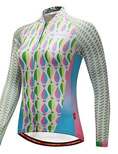 billige Sykkeljerseys-CYCOBYCO Sykkeljersey Dame Langermet Sykkel Genser Jersey Topper Sykkelklær Træner Fort Tørring Refleksbånd Pusteevne Stretch