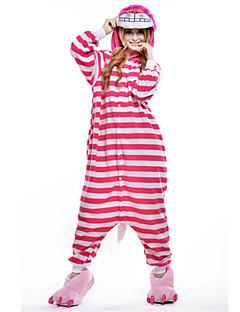 billige Kigurumi-Voksne Kigurumi-pysjamas Kat Chesire Cat Onesie-pysjamas Polar Fleece Syntetisk Fiber Rosa Cosplay Til Damer og Herrer Pysjamas med dyremotiv Tegnefilm Festival / høytid kostymer