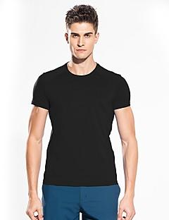 baratos Camisetas para Trilhas-Snowwolf® Homens Camiseta de Trilha Ao ar livre Dom namorado Futebol Americano Fitness Ultra Fino Camiseta Invisível Casual