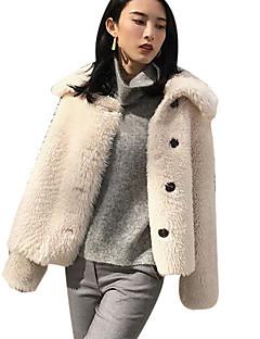 cheap Women's Blazers & Jackets-Women's Vintage Leather Jacket - Solid, Pleated