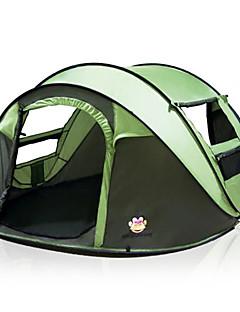 baratos Total Promoção Limpa Estoque-5 pessoas Barracas de Acampar Leves Dupla Camada Automático Dome Barraca de acampamento Ao ar livre para Campismo / Viajar 2000-3000 mm 200*280*120 cm