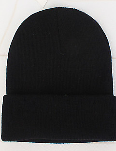 billige Trendy hatter-Fritid Solhatt, Vinter Høst Akryl Oransje Rød Rosa Fuksia Lyseblå