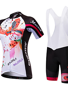 cheap Cycling Jersey & Shorts / Pants Sets-Malciklo Women's Short Sleeves Cycling Jersey with Bib Shorts - Black/White Black/Red British Bike Clothing Suits, Quick Dry, Anatomic