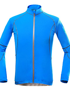 cheap Cycling Jackets-KORAMAN Cycling Jacket Men's Bike Top Spring Summer Polyester Bike Wear Quick Dry Ultraviolet Resistant Breathable Stretch Back Pocket