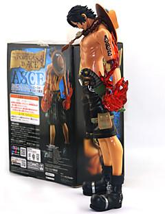 billige Anime cosplay-Anime Action Figurer Inspirert av One Piece Ace PVC 25 cm CM Modell Leker Dukke