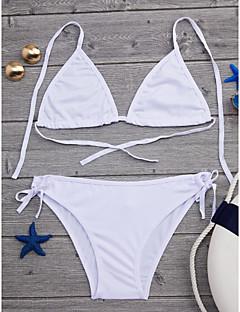 billige Bikinier og damemote 2017-Dame Solid / Sport Grime Bikini Ensfarget / Uten bøyle