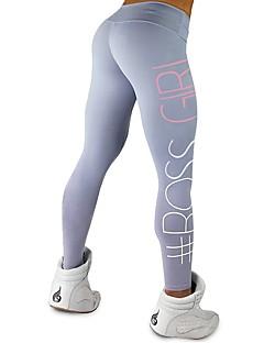 billige Løbetøj-Dame Yoga bukser - Mørkegrå, Lysegrå, Blå Sport Geometrisk Tights Løb, Fitness, Træningscenter Sportstøj Åndbart, Hurtigtørrende Elastisk