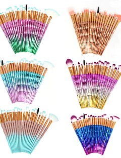 cheap -20-Pack Makeup Brushes Professional Makeup Brush Set Nylon / Synthetic Hair Full Coverage ABS