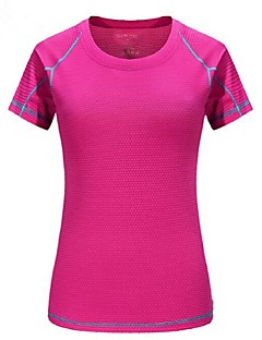cheap Hiking T-shirts-Women's Hiking T-shirt Outdoor Quick Dry Breathability Lightweight T-shirt Camping / Hiking Multisport Bike/Cycling Back Country